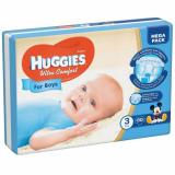 Huggies подгузники Ultra Comfort 3 (5-9кг) для мальчиков № 80 шт