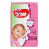 Huggies подгузники Ultra Comfort 4+ (10-16 кг) для девочек № 17 шт