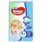 Huggies подгузники Ultra Comfort 4+ (10-16 кг) № 17 шт