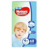 Huggies Подгузники UC Giga 4+ (10-16кг) Boy 68*2