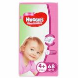 Huggies подгузники Ultra Comfort 4+(10-16 кг) для девочек № 68 шт