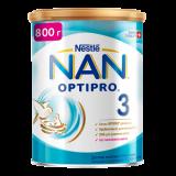 Nestle смесь Nan 3 Optipro молчная для детей с 12 месяцев 800 г