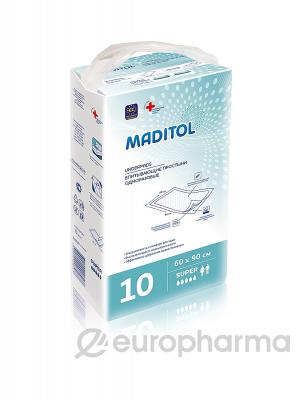 Maditol простыня гигиеническая 60*90 х10 шт