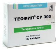 Теофил СР 300 мг, №30, капс.