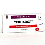 Текназол 100 мг, №4, капс.