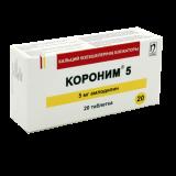 Короним 5 мг № 20 табл