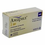 Амарил 3 мг № 30 табл