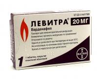 Левитра 20 мг, №1, табл.