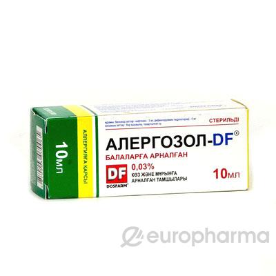 Алергозол-DF  0,03% 10 мл капли