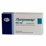 Липримар 40 мг, №30, табл.