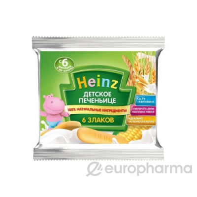 Heinz печенье детское 6 злаков,60 г сашет