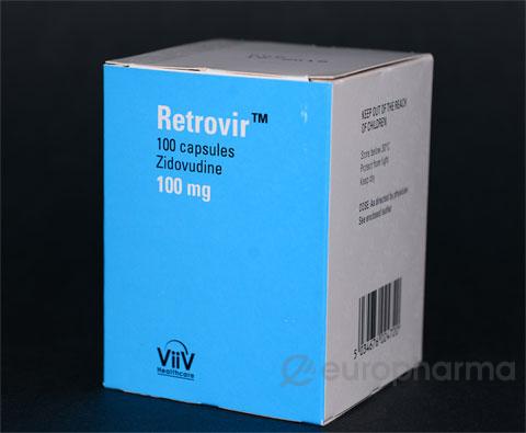 Ретровир 100 мг, №100, капс.