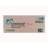Алфинор 16 мг, №30, табл.
