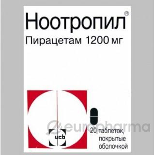 Ноотропил 1200 мг, №20, табл.