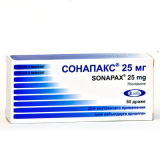 Сонапакс 25 мг, №60, драже