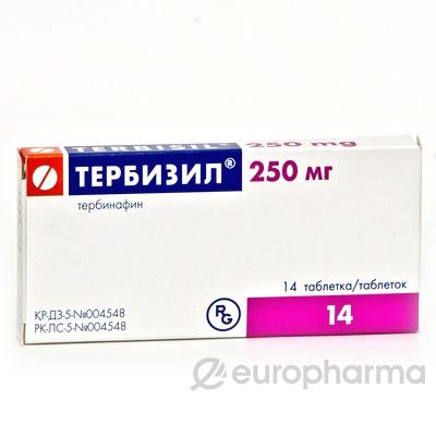 Тербизил 250 мг, №14, табл.