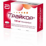 Трайкор 145 мг № 30 табл п/плён оболоч