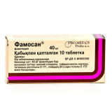 Фамосан 40 мг, №10, табл.