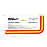 Индап 1,25 мг, №30, табл.