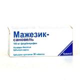 Мажезик-сановель 100 мг, №30, табл., покрытые оболочкой