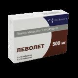 Леволет 500 мг № 10 табл покрытые оболочкой