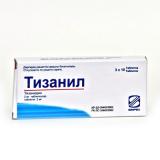 Тизанил 2 мг, №30, табл.