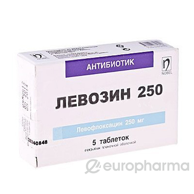 Левомак 250 мг, №5, табл.