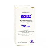 Зоцеф 750 мг № 1 порошок для приготовления раствора для инъекций