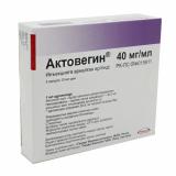 Актовегин раствор д/инъекций 40 мг/мл 10 мл № 5 амп