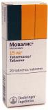 Мовалис 15 мг, №20, табл.