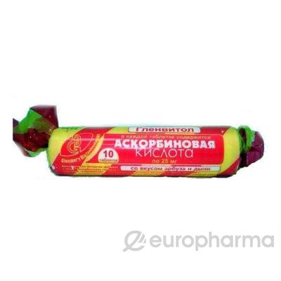 """Аскорбиновая кислота с вкусом """"Дыня-арбуз"""" №10 (скрутка)"""