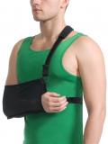Бандаж для руки поддерживающий с дополнительной фиксацией MedTextile арт 9912 M черный