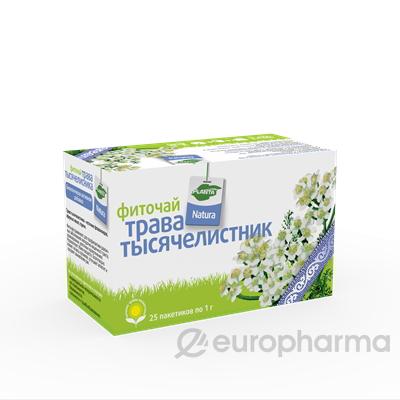 Тысячелистника трава 1 гр, №25 фито чай, Planta Natura