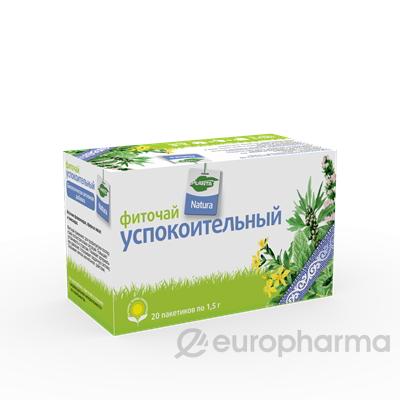 Успокоительный 1,5 гр, №20, фито чай, Planta Natura