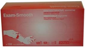 Перчатки латекс смотровые ExamSmooth (7-8) стер