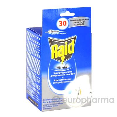 Рейд электрофумигатор с жидк.от комар 30 ночей