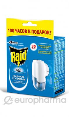 Рейд жидкость от комаров для фумигатора 30 ночей