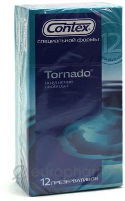 Презервативы Contex Tornado №12, (специальной формы)