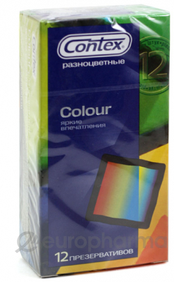 Презервативы Contex Colour №12, (разноцветные)