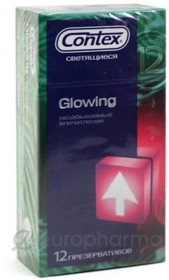 Презервативы Contex Glowing №12, (светящиеся)