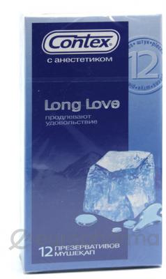 Презервативы Contex Long Love №12, (продлевающая смазка)