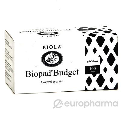 Салфетка спиртовая (65*30), Biopad одн.