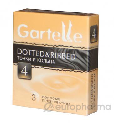 Презервативы Gartelle Dotted & Ribbed №3