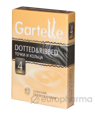 Презервативы Gartelle Dotted & Ribbed №12