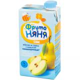 Фрутоняня сок яблочно-грушевый с мякотью 0,5 л