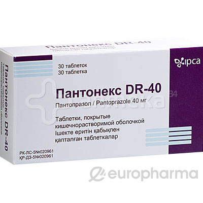 Пантонекс DR 40 мг №30,табл