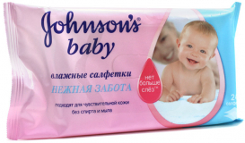 Джонсон беби салфетки влаж.без запаха №24