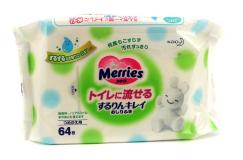 Merries салфетки влажные №64 (мягкая упаковка)